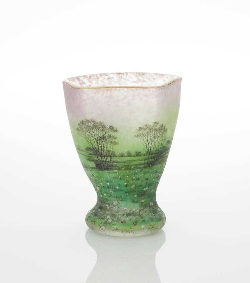 ドーム 花畑文花瓶