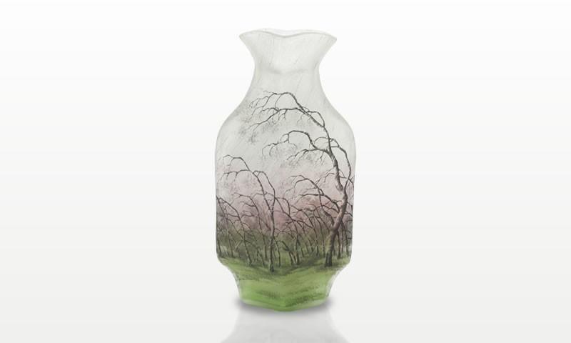 風雨樹林文花瓶