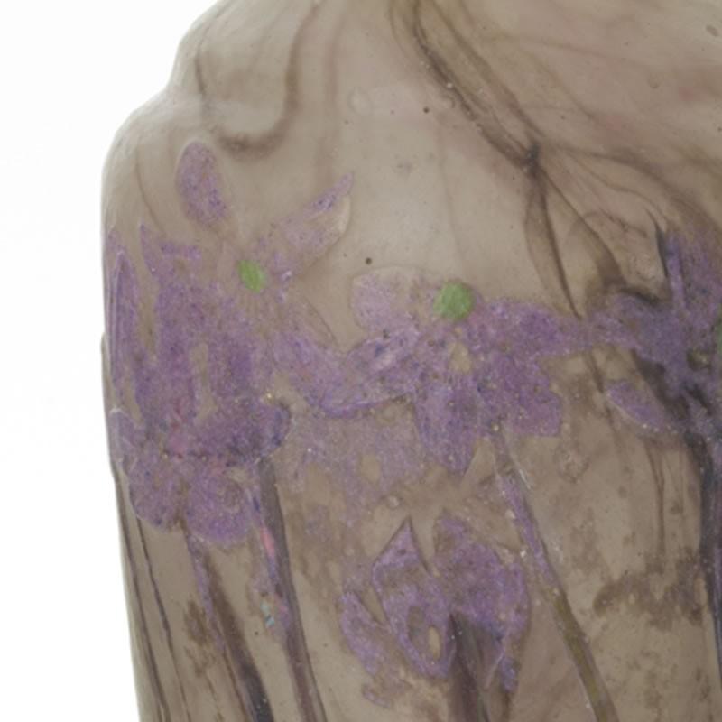 ドーム 花瓶「スハマソウ属植物 Hépatique」